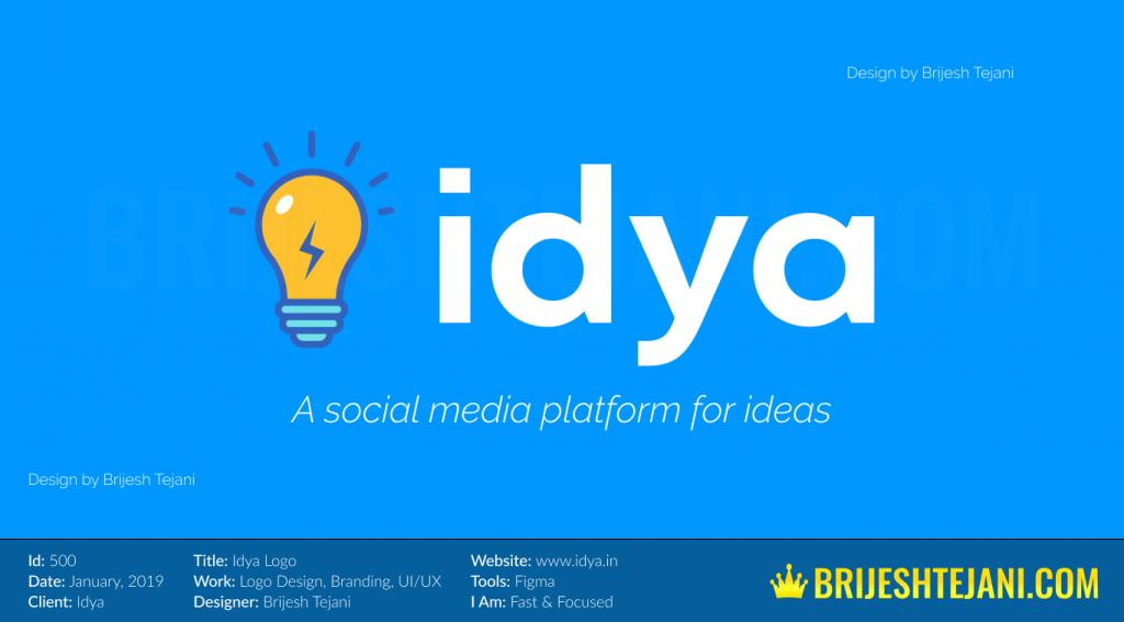 Idya Logo | Brijesh Tejani