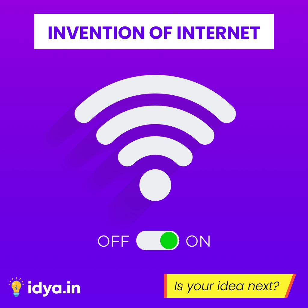 Invention of Internet | Instagram Creative Idya | Design by Brijesh Tejani