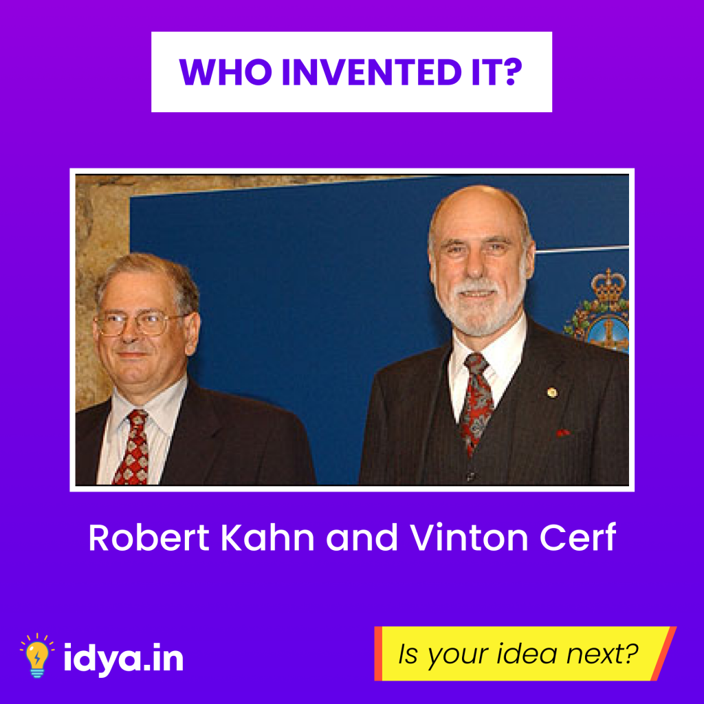 Robert Kahn and Vinton Cerf | Invention of Internet | Instagram Creative Idya | Design by Brijesh Tejani
