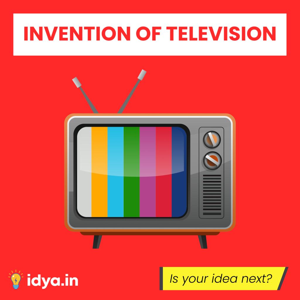 Invention of Television | Instagram Creative Idya | Design by Brijesh Tejani
