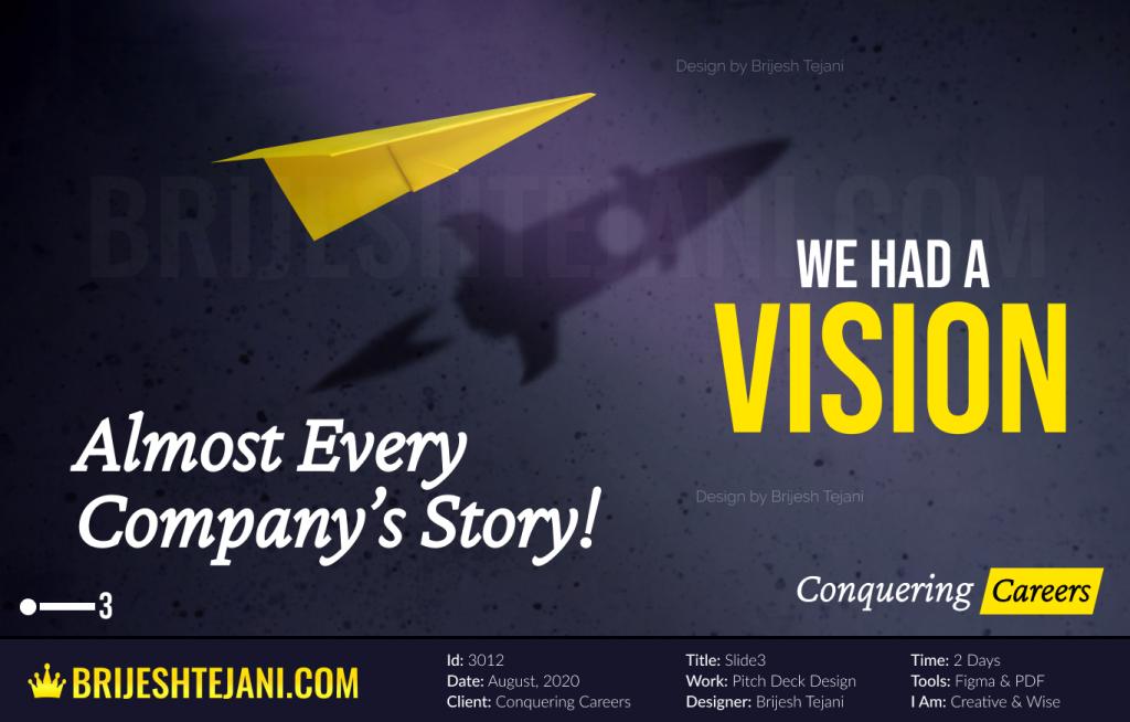 Startup Pitch Deck | Vision | Brijesh Tejani