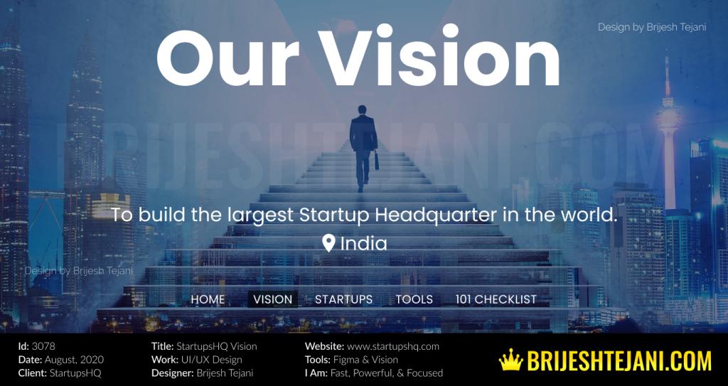 StartupsHQ Design | UI UX Design | by Brijesh Tejani