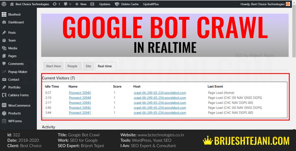 Google Bot Crawl | Realtime SEO Indexing On Google