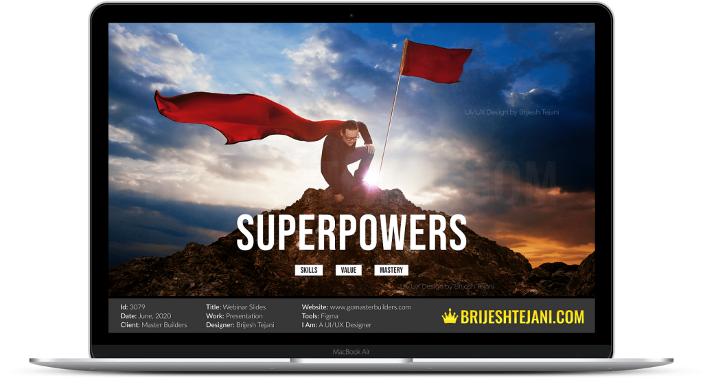 Superpowers | Webinar PPT Design | Brijesh Tejani