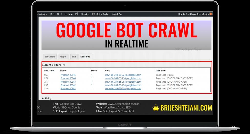 Google Bot Crawl | WordPress SEO | Brijesh Tejani